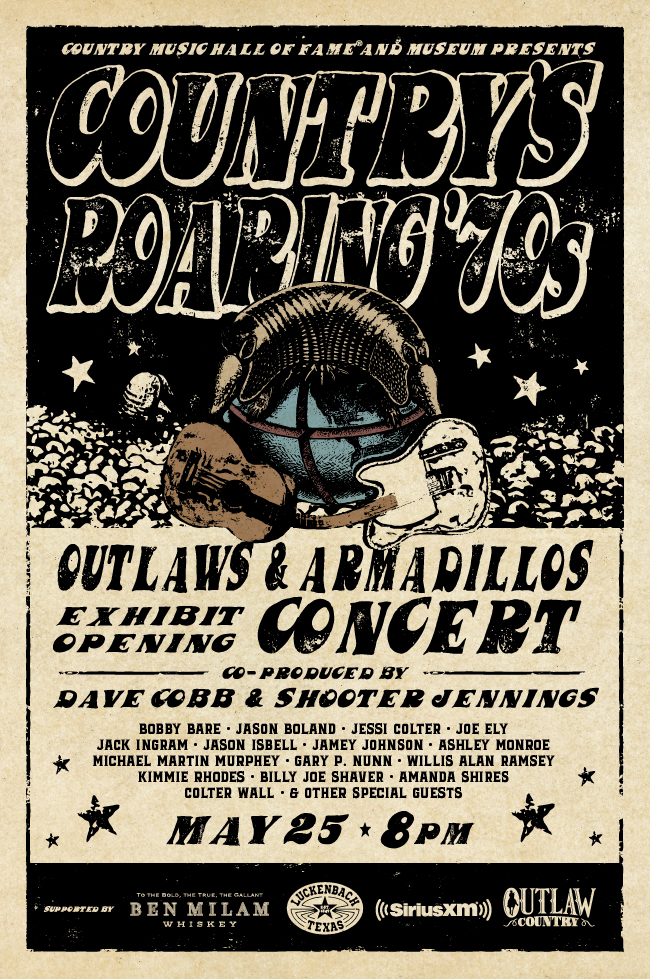 Outlaws & Armadillos Exhibit Opening Concert